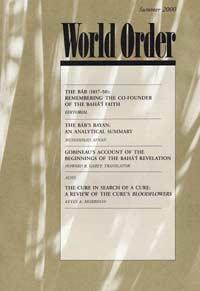 World Order: Summer 2000, Vol. 31 No. 4