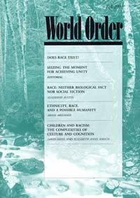 World Order: Fall 2001, Vol. 33 No. 1