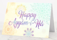 Blossoms Ayyam-i-Ha Greeting Cards