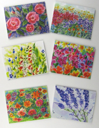 Boxed Set 6 Flower Cards