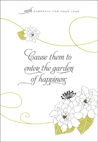 Garden of Happiness Sympathy Card