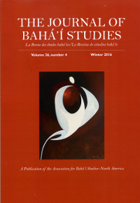 Journal of Baha'i Studies-V26 No1-4