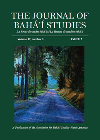 Journal of Baha'i Studies, Vol. 27, no. 3