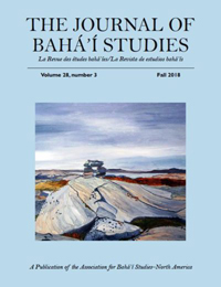 Journal of Baha'i Studies Vol 28, no. 3