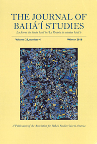 Journal of Baha'i Studies Vol 28, no. 4