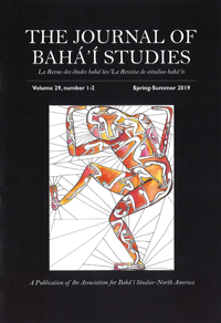 The Journal of Baha'i Studies Volume 29, 1-2
