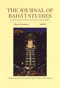 Journal of Baha'i Studies Vol 29, no. 3