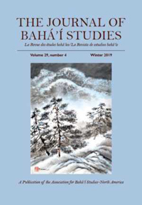 Journal of Baha'i Studies Vol 29, no. 4