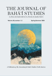 Journal of Baha'i Studies, Volume 30, number 1-2