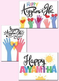 Loving Hands Ayyam-i-Ha Cards (set of 6)